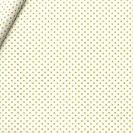 COTONE POIS NATURALE/GIALLO