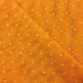 Tulle di Cotone a Pois Arancione