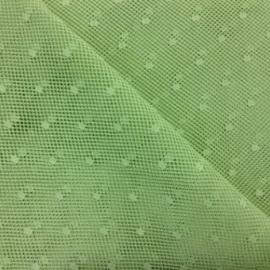 Tulle di Cotone a Pois Verdino